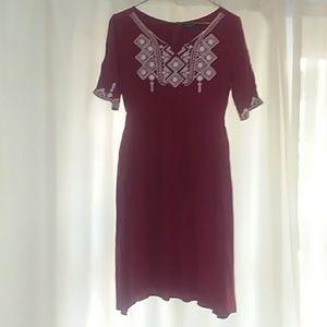 Maroon Mikarose Dress